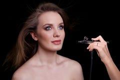 Schönheits-Mode-Modell Woman, Porträt Stockfotos