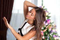 Schönheits-Mode-Zauber-Mädchen-Porträt stockfotografie