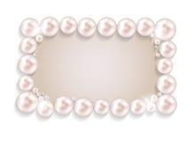 Schönheits-Perlen-Feld-Hintergrund-Vektorillustration Stockbilder