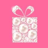 Schönheits-Perlen-Geschenk-Hintergrund-Vektorillustration Lizenzfreies Stockbild