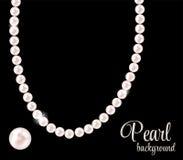 Schönheits-Perlen-Hintergrund-Vektor-Illustration Lizenzfreie Stockfotografie