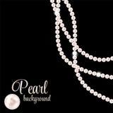 Schönheits-Perlen-Hintergrund-Vektor-Illustration Stockfoto