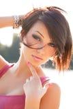 Schönheits-Porträt der sexy jungen Frau stockfoto