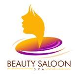 Schönheits-Saal-Logo Stockfotos