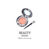 Schönheits-Salon-Konzept Vektor Hand gezeichnet stock abbildung
