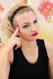 Schönheits-Salon-Modemädchenporträt Lizenzfreie Stockbilder