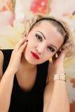 Schönheits-Salon-Modemädchenporträt Stockbilder