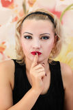 Schönheits-Salon-Modemädchenporträt Lizenzfreies Stockfoto