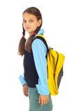Schönheits-Schulmädchen am ersten Tag der Schule Lizenzfreie Stockfotos