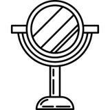 Schönheits-Stand-Spiegel-Ikonen-Vektor stock abbildung