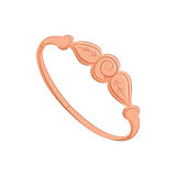 Schönheitsarmband oder -ring arbeiten Sie Schmucksachen um Elegantes Zubehör Der orange Gegenstand lokalisiert auf weißem Hinterg stock abbildung