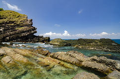 Schönheitsbeschaffenheit von Kapas-Insel gelegen in Terengganu, Malaysia wi Lizenzfreie Stockfotografie