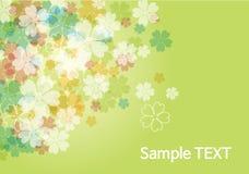 Schönheitsblumenhintergrund - Grün Lizenzfreie Stockbilder