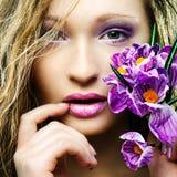 Schönheitsfrühlingsporträt Stockfoto