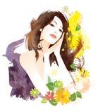 Schönheitsfrau Stockfoto