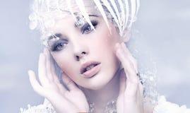 Schönheitsfrau Stockfotos