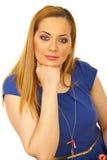 Schönheitsfrau mit grünen Augen Lizenzfreie Stockfotos