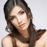 Schönheitsfrauen-Gesichtsabschluß herauf Porträt Lizenzfreie Stockfotos
