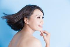 Schönheitsfrauenlächeln glücklich Lizenzfreie Stockfotos