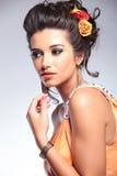 Schönheitsfrauenporträt Stockfoto