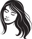 Schönheitsgesichts-Mädchenportrait Stockbilder
