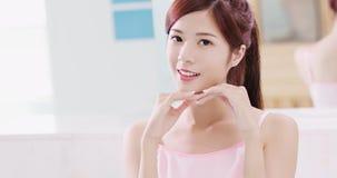 Schönheitshautpflegefrau lizenzfreies stockfoto
