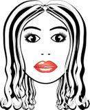 Schönheitslogofrau Lizenzfreies Stockbild