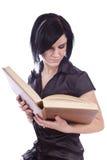 Schönheitsmädchen mit Buch lizenzfreie stockfotos