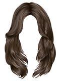Schönheitsmode der modischen Haare der Frau langen blonde Farb Realistische Grafiken lizenzfreie abbildung