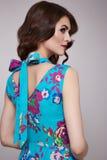 Schönheitsmode kleidet zufälligen Sammlungsfrauen-Modell Brunette lizenzfreie stockfotos