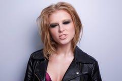 Schönheitsmode-modell-Frauengesicht Stockbilder