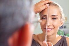 Schönheitsoperationvorbereitung der Wekzeugspritze Stockfoto