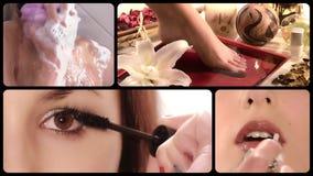 Schönheitspflege, Montage stock footage