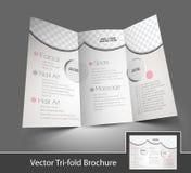 Schönheitspflege U. Salon-dreifachgefaltete Broschüre Vektor ...