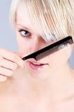 Schönheitsporträt Blondine Stockfotografie