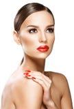 Schönheitsporträt, Schönheit auf weißem Hintergrund lizenzfreies stockfoto