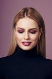 Schönheitsporträt von Blondinen Lizenzfreies Stockfoto