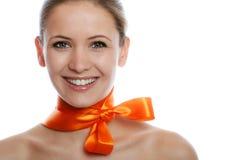 Schönheitsportrait einer Frau lizenzfreie stockfotos