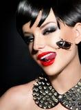 Schönheitspunkmode-modell-Mädchen Stockbilder