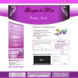 Schönheitssalon-Geschäftswebsiteschablone Stockfoto