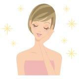 Schönheitsschönheitsbehandlungs-Salonfrau Stockfotografie
