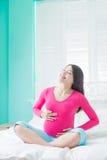 Schönheitsschwangerschaftsfrau Lizenzfreie Stockfotografie