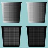 Schöpfen Sie den ruhigen Eimer oder Mülleimer mit Metall für Papierikone lizenzfreie abbildung