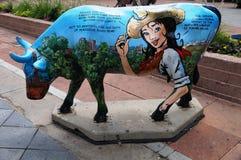 Schüchtern Sie Skulptur in Denver, Colorado ein, belegte die Meile-e-hoh Stadt mit einem Spitznamen Stockbilder