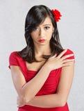 Schüchterne junge Frau Stockbilder