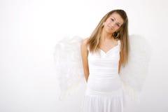 Schüchterner Engel stockbild