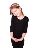 Schüchternes kleines hübsches Mädchen Lizenzfreie Stockfotos
