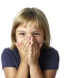 Schüchternes kleines Mädchen Lizenzfreie Stockfotos