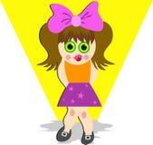 Schüchternes Mädchen Stockbild