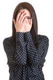 Schüchternes Mädchen Lizenzfreie Stockbilder